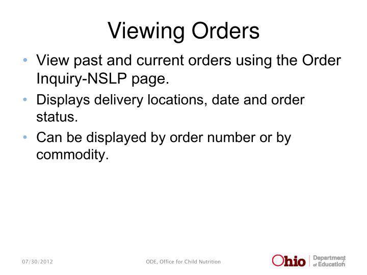 Viewing orders1