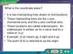 what is the coordinate plane