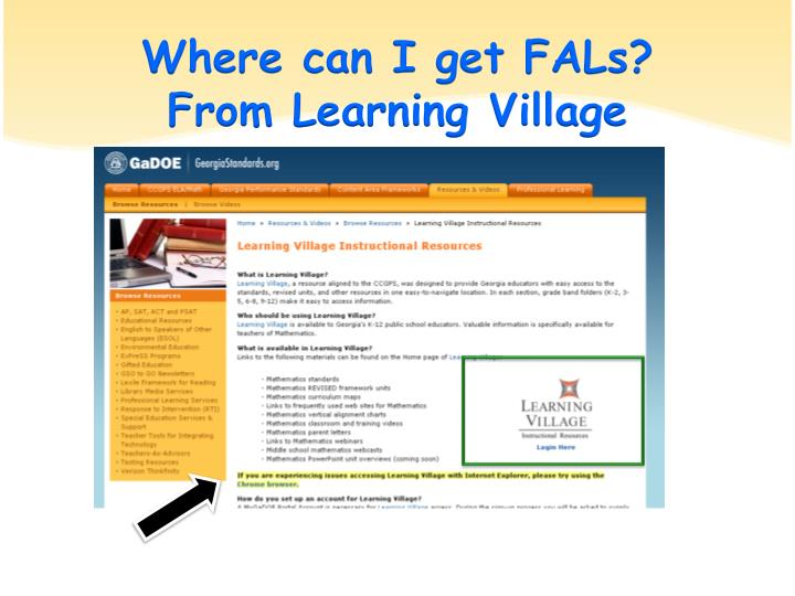 Where can I get FALs?