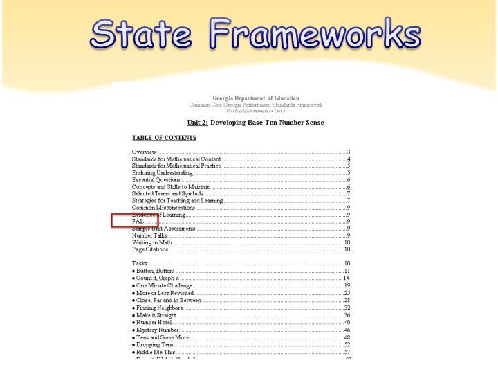State Frameworks