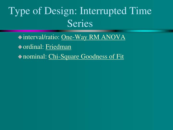 Type of Design: Interrupted Time Series