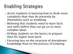 enabling strategies