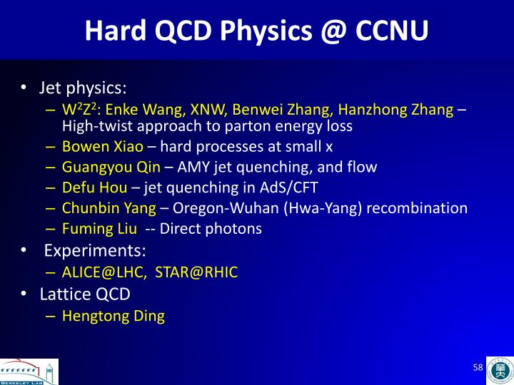 Hard QCD Physics @ CCNU