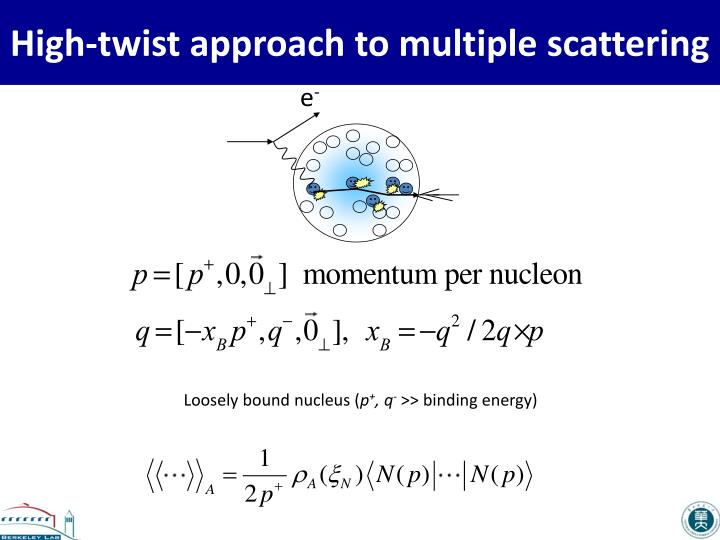 High twist approach to multiple scattering