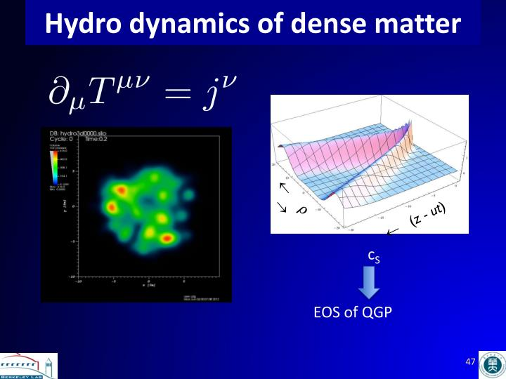 Hydro dynamics of dense matter