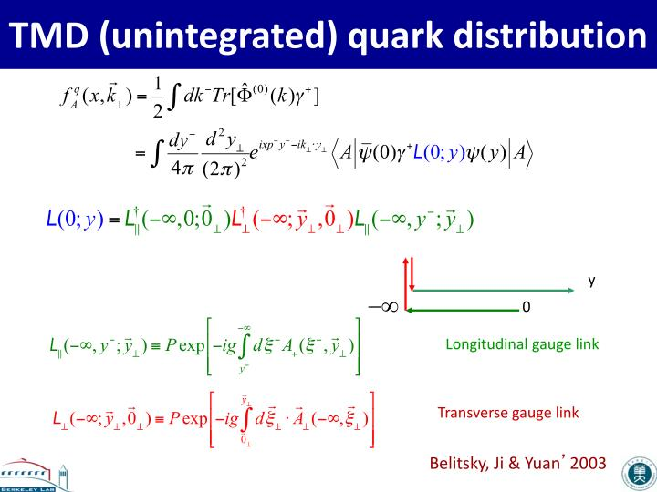 TMD (unintegrated) quark distribution