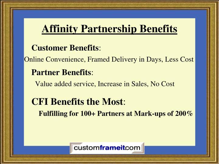 Affinity Partnership Benefits