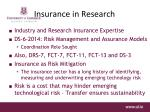 insurance in research