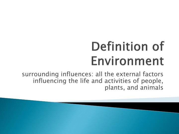 Definition of environment