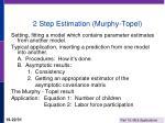 2 step estimation murphy topel