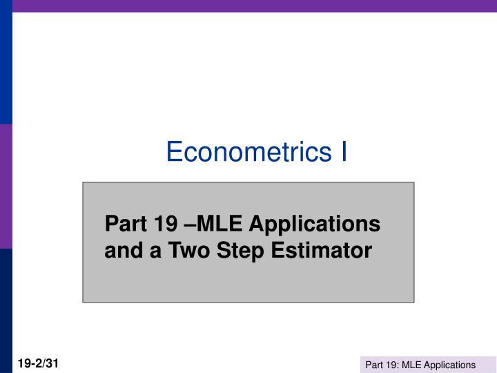 econometrics 2 Econometric sense an attempt to make sense of econometrics, biostatistics, machine learning, experimental design, bioinformatics.