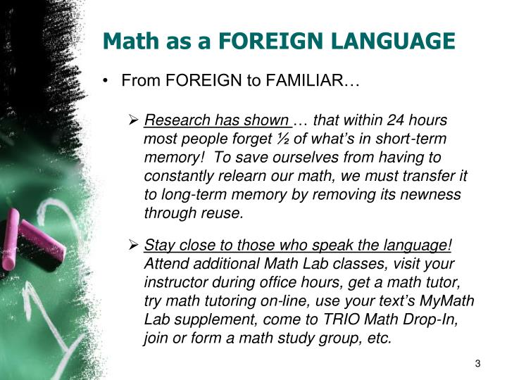 Math as a foreign language1
