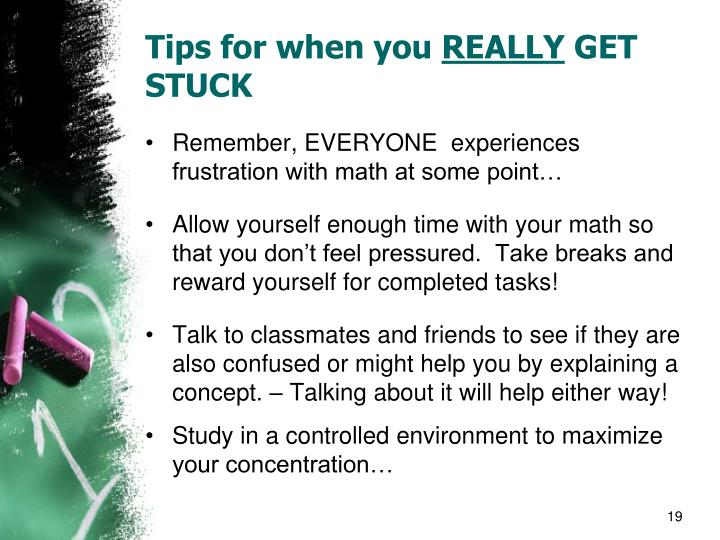 Tips for when you