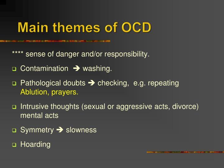 Main themes of OCD