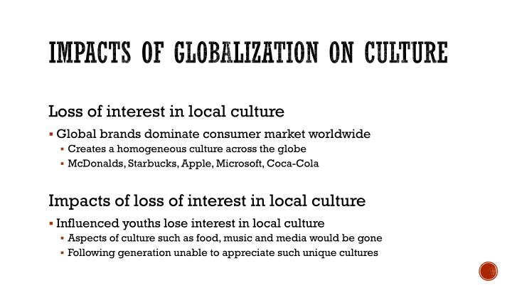 impact of globalization on local cultures