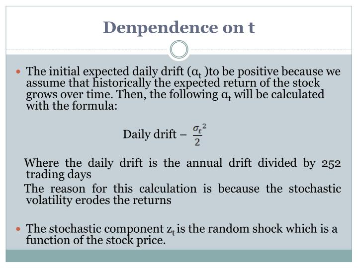 Denpendence on t