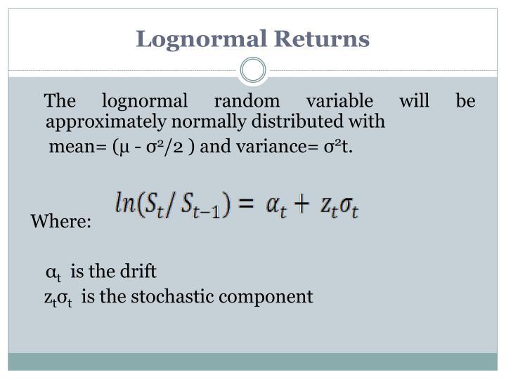 Lognormal Returns