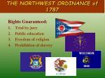 the northwest ordinance of 17874