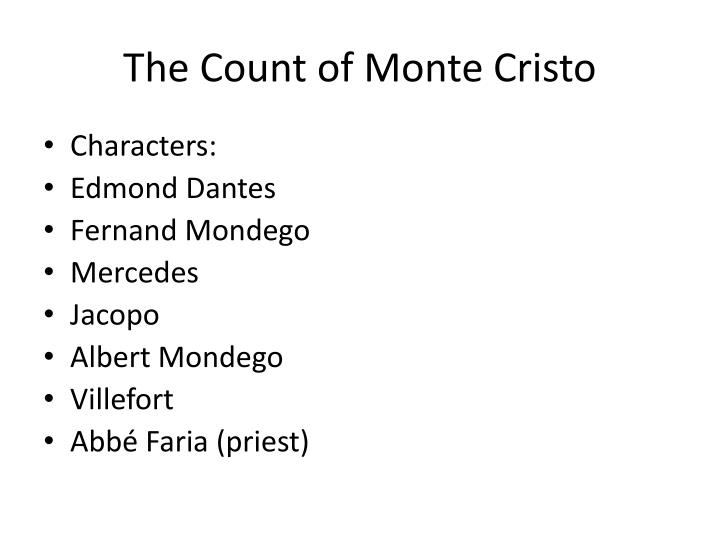 ppt the count of monte cristo analysis powerpoint presentation  the count of monte cristo