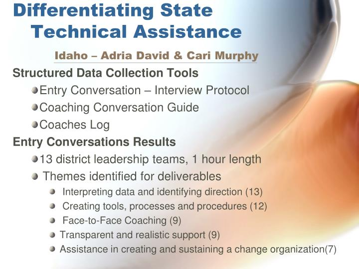 Differentiating state technical assistance idaho adria david cari murphy
