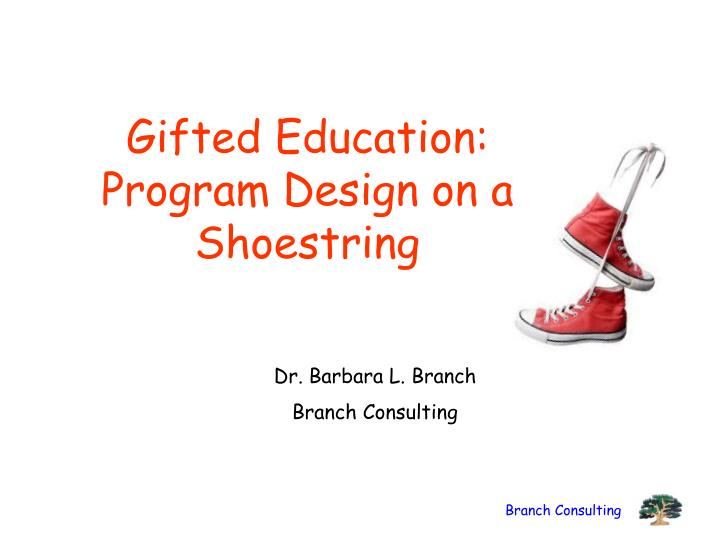 Gifted education program design on a shoestring