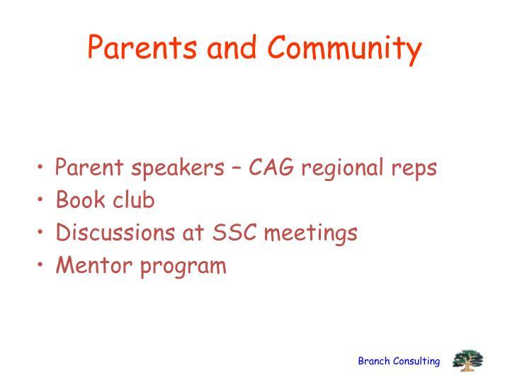 Parents and Community