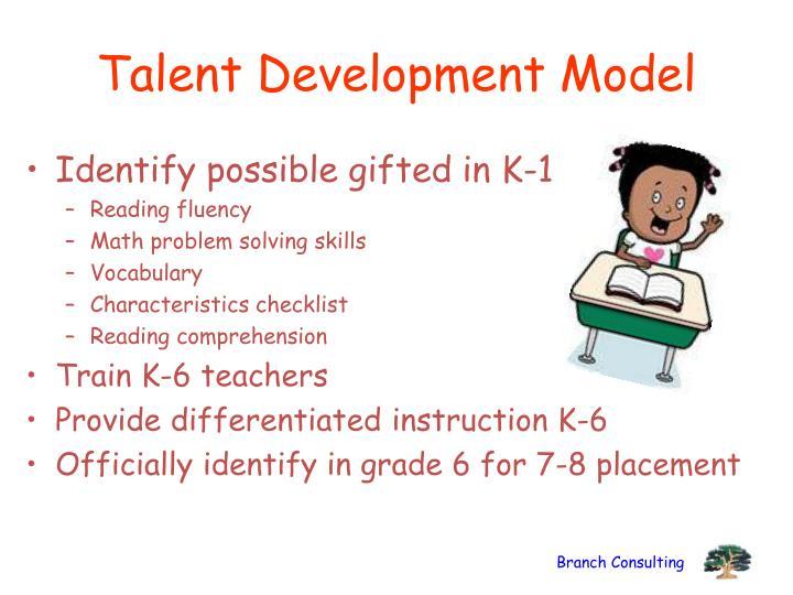 Talent Development Model