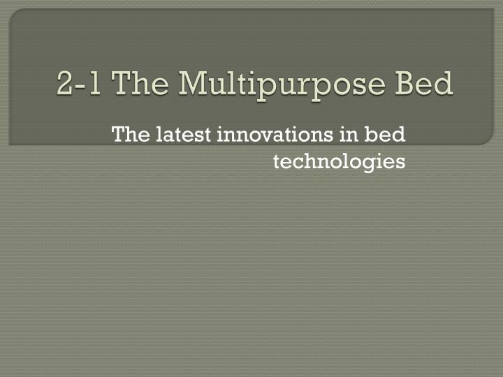 2 1 the multipurpose bed n.