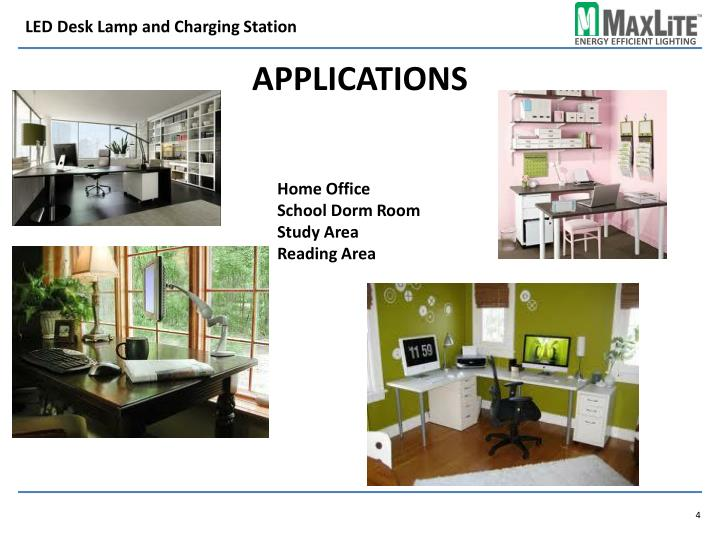 LED Desk Lamp and Charging Station