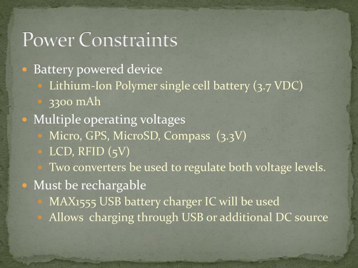Power Constraints
