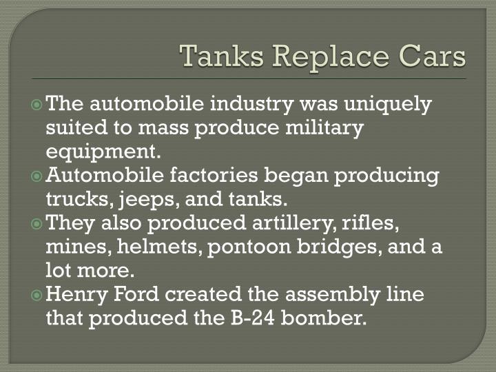 Tanks Replace Cars