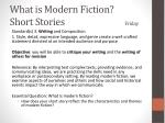 what is modern fiction short stories friday