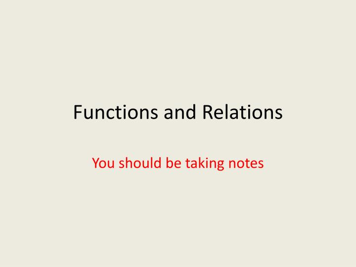 functions and relations n.
