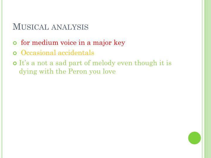 Musical analysis