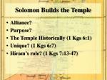 solomon builds the temple