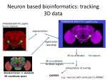 neuron based bioinformatics tracking 3d data