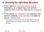 6 choosing the right data structure