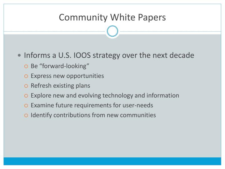 Community White Papers