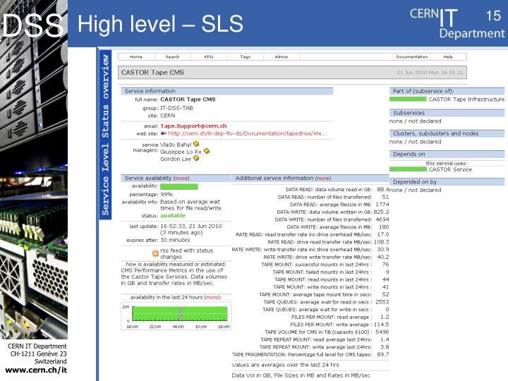 High level – SLS