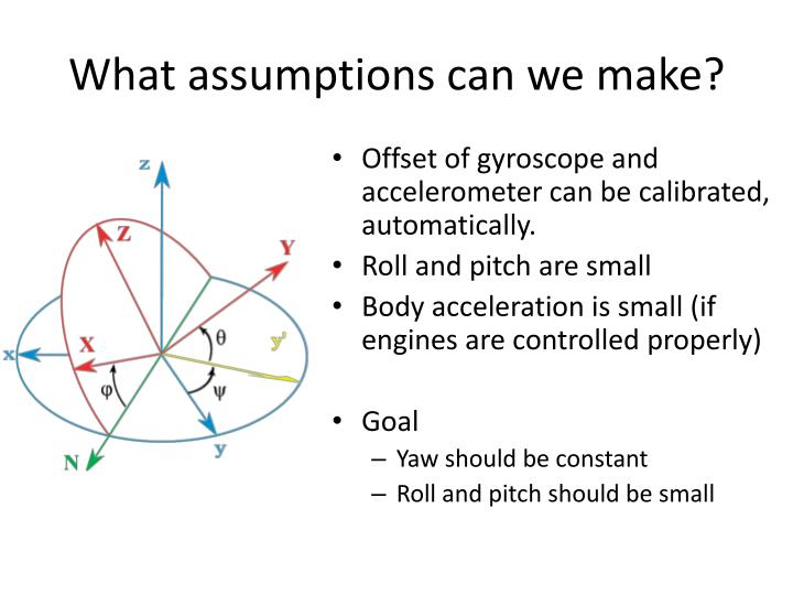 What assumptions can we make?