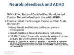 neurobiofeedback and adhd