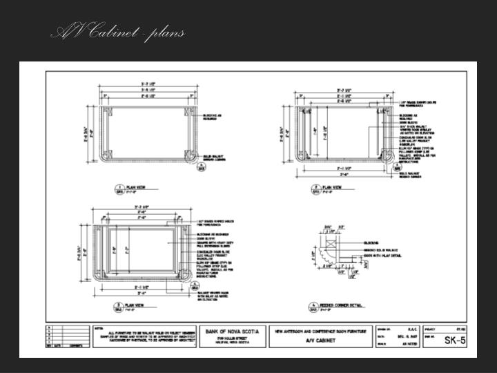 A/V Cabinet - plans