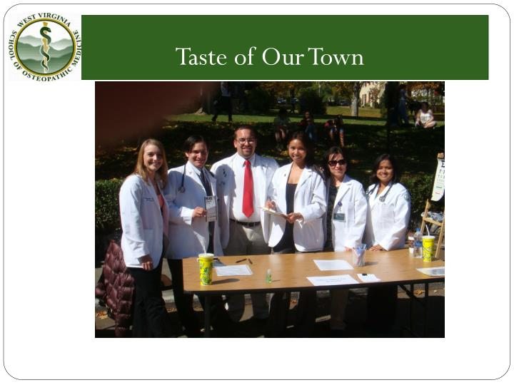 Taste of Our Town