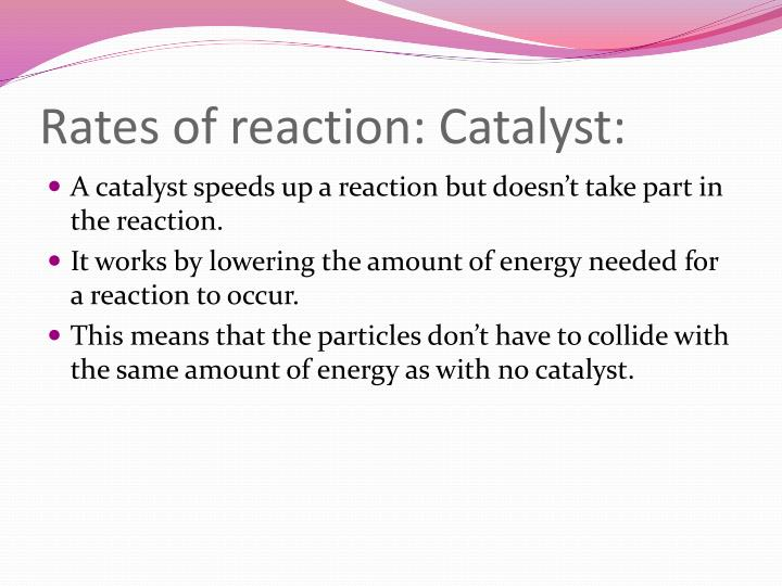 Rates of reaction: Catalyst