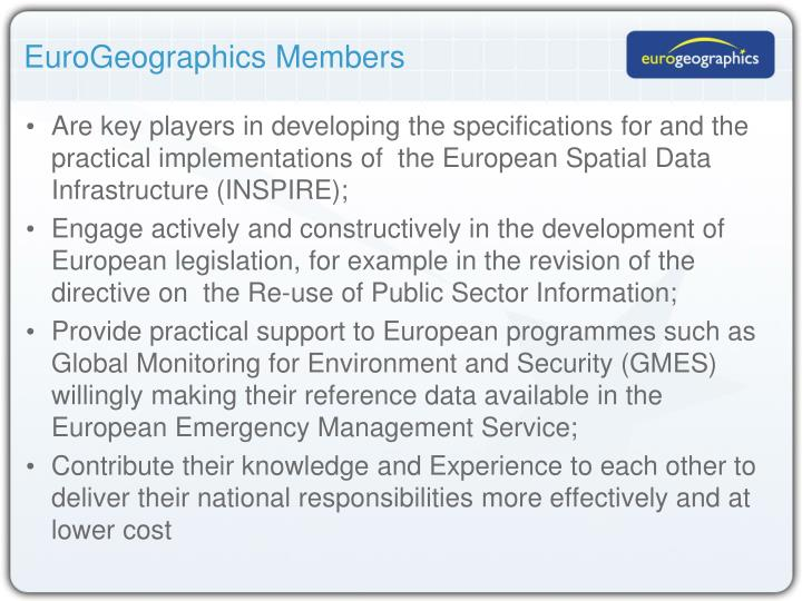 EuroGeographics Members