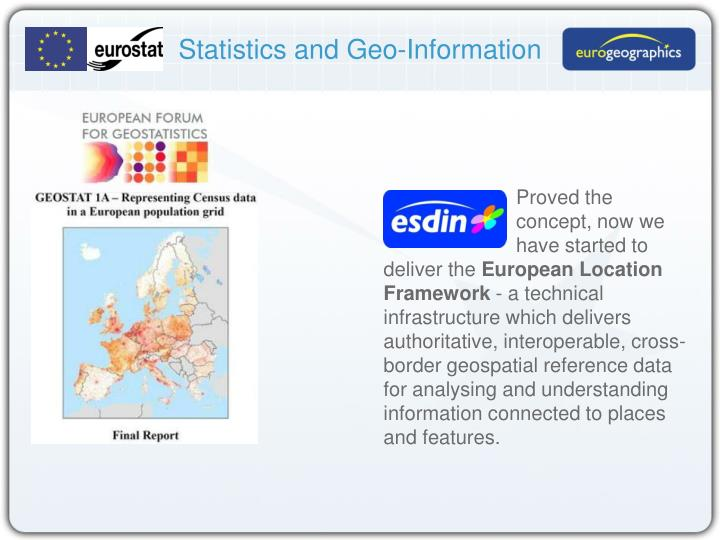 Statistics and Geo-Information