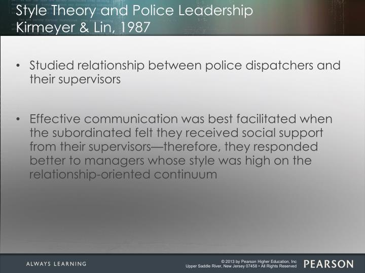 Style Theory and Police Leadership
