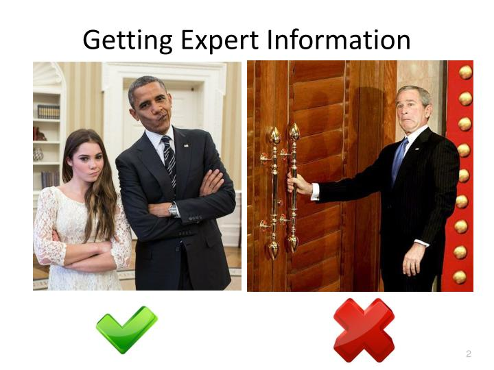Getting expert information