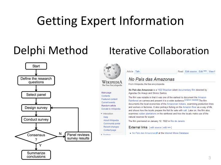 Getting expert information1
