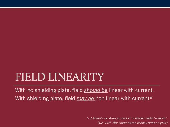 Field linearity